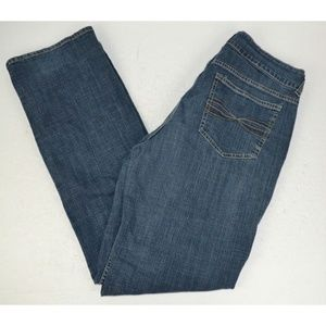 Lee Riders Mid-Rise Straight Leg Blue Jeans